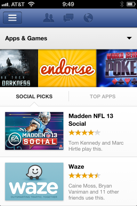 Endorse FB Featured app ios