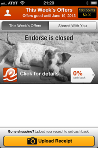 Endorse is Closed